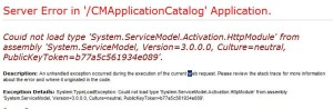 Could not load type 'System.ServiceModel.Activation.HttpModule