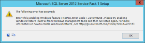 How To Install NetFx3 For SQL Server 2012