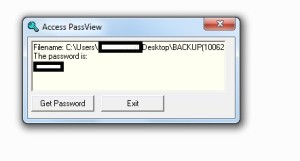 Access database password recovery2