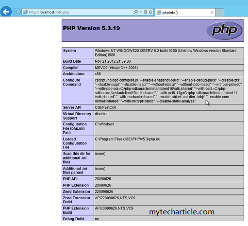 How To Install PHP In Windows Server 2012-03