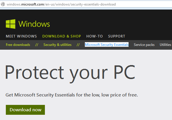 How To Install Microsoft Security Essentials