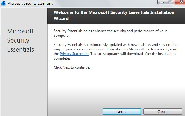 How To Install Microsoft Security Essentials01
