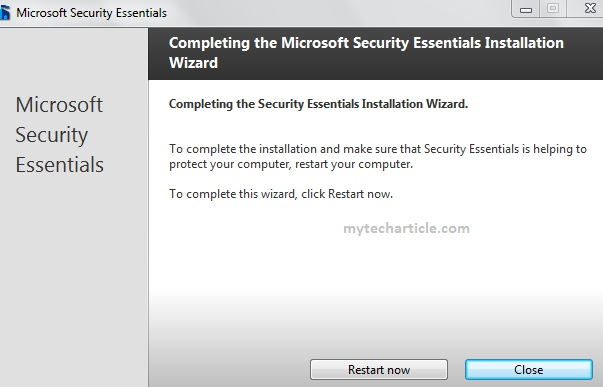 How To Install Microsoft Security Essentials06