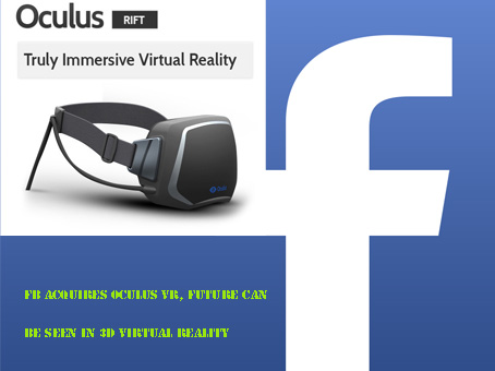 FB Acquires Oculus VR, Future Can Be Seen In 3D Virtual Reality