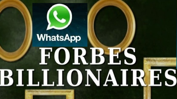 Whatsapp Founders Listed In Forbes Global Billionaires