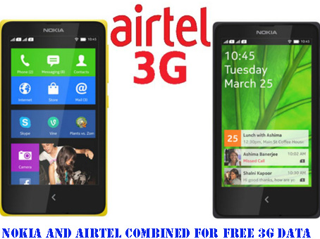 Nokia And Airtel Combined For Free 3G Data