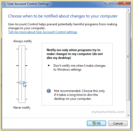 How To Disable User Account Control(UAC) In Windows 7,8-02