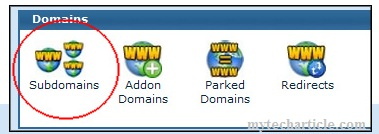 There was a problem creating the sub-domain