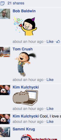 Facebook Offers Free Stickers For Comments on Timeline Posts01