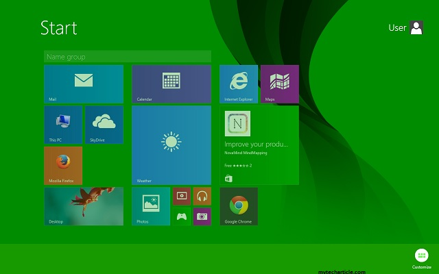 How To Create Customize Group In Windows 8