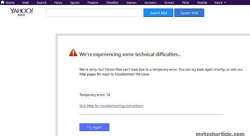 Yahoo mail service servers are download