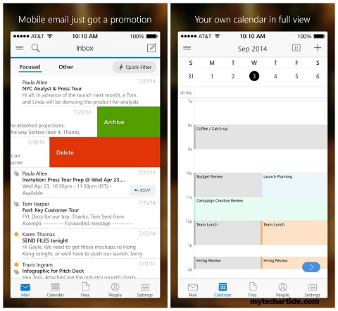 Microsoft Launched New Outlook App