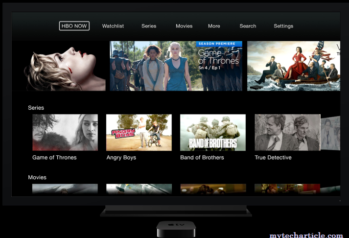 HBO Arrived In Apple TV,iPhone And iPad