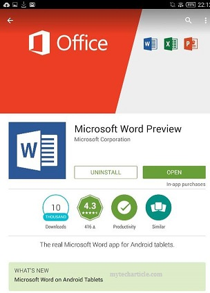 Microsoft Released Office Preview For Android Phones-01
