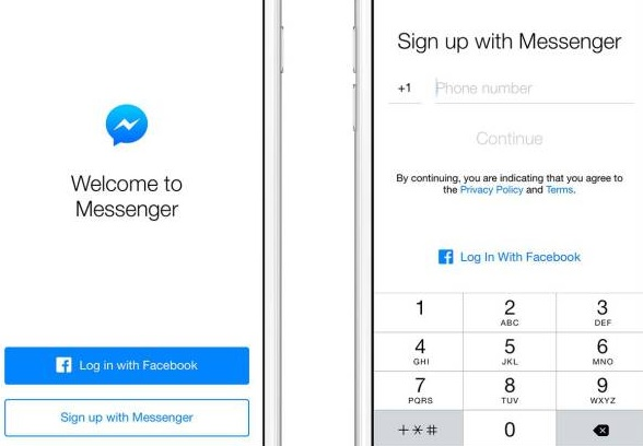 Facebook Account Not Required For Messenger