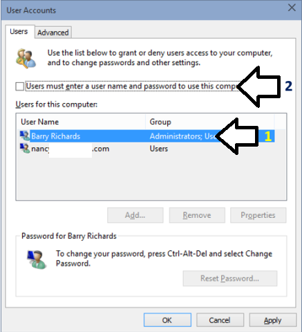 How To Sign In to User Account Automatically In Windows 10
