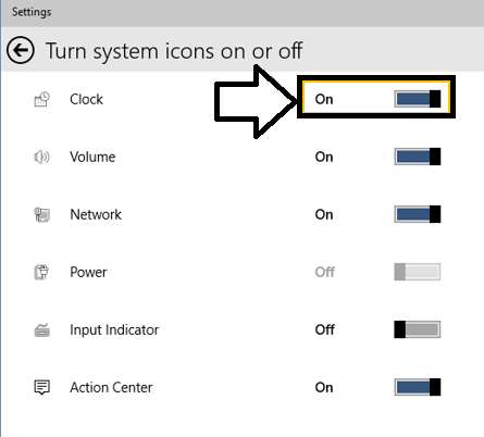 How To Turn System Tray Icons On or Off In Windows 10 - 03
